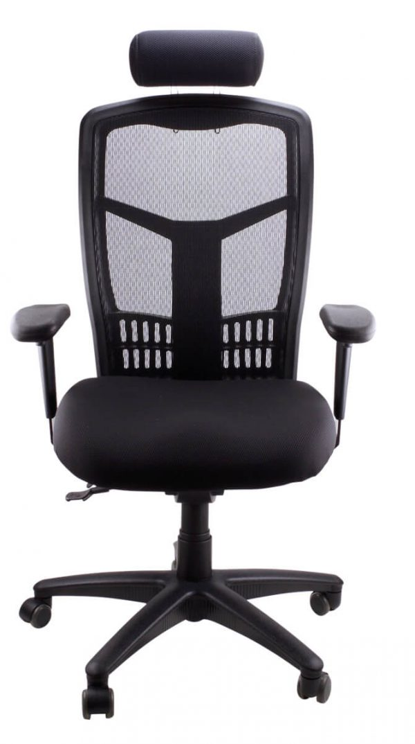 Black mesh deluxe chair