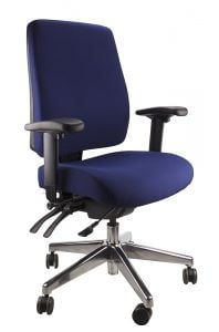 Ergo Form – Clerical (Polished Base) Chair
