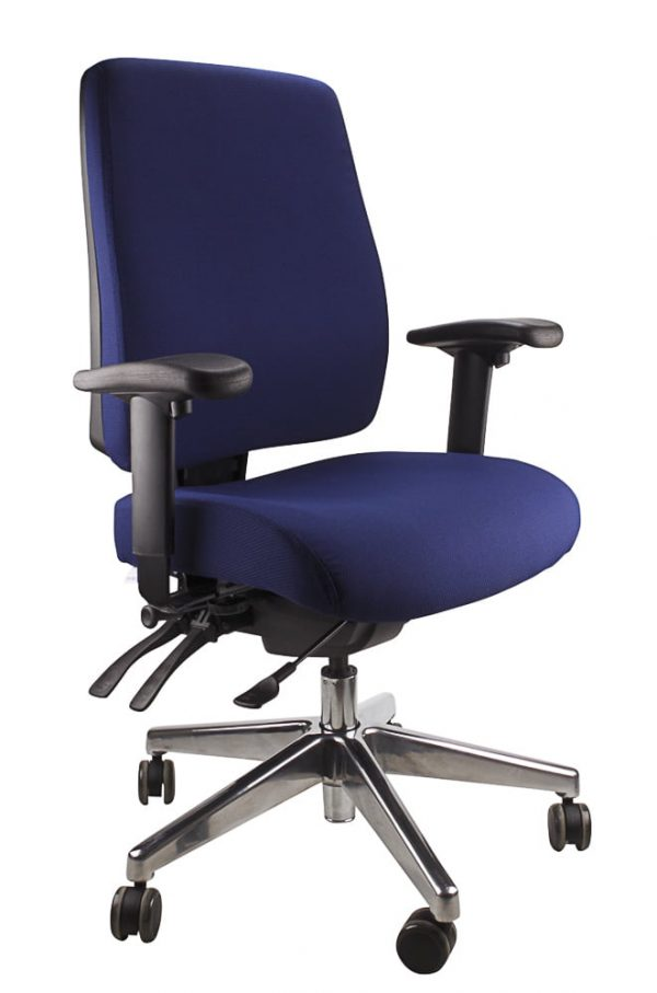 Blue Ergo form - clerical polished chair