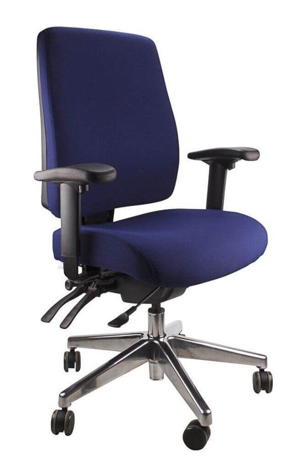 blue ergoform - clerical (black base) chair
