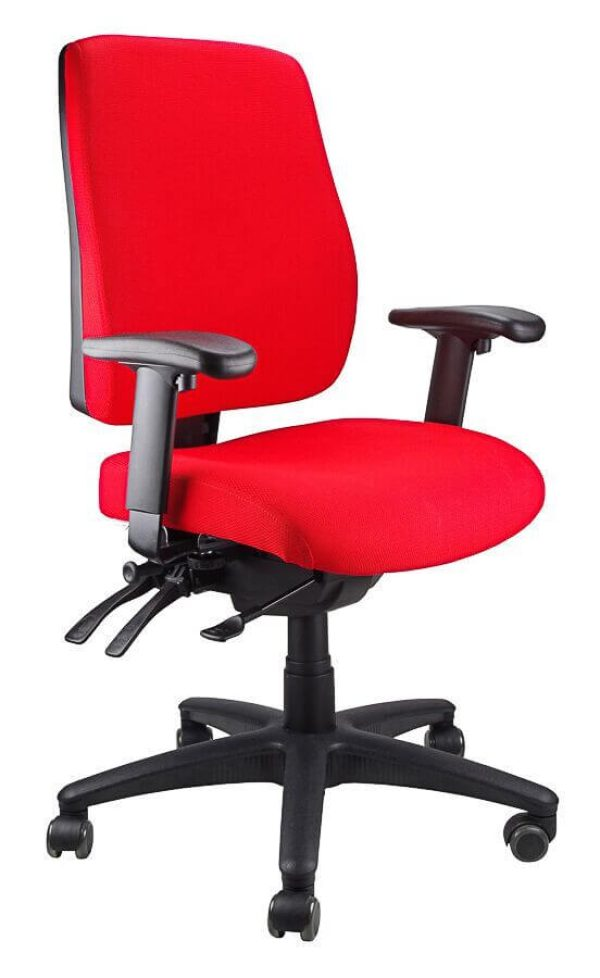 red ergoform - clerical (black base) chair
