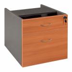 Express Fixed Desk Pedestal - 1 Drawer + 1 File