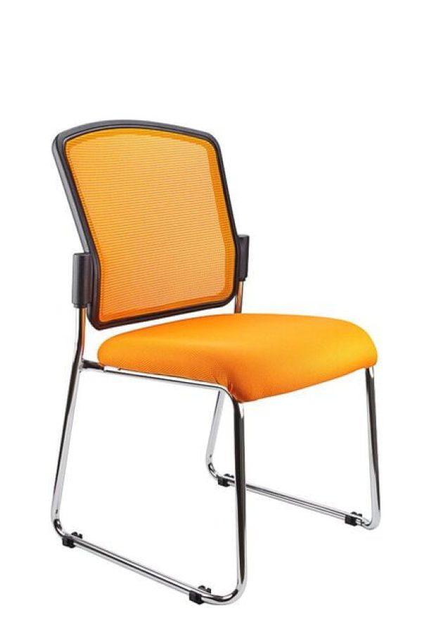 Orange mesh back spencer chair