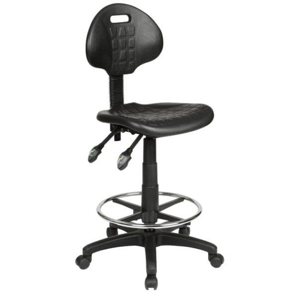 Adjustable industrial stool