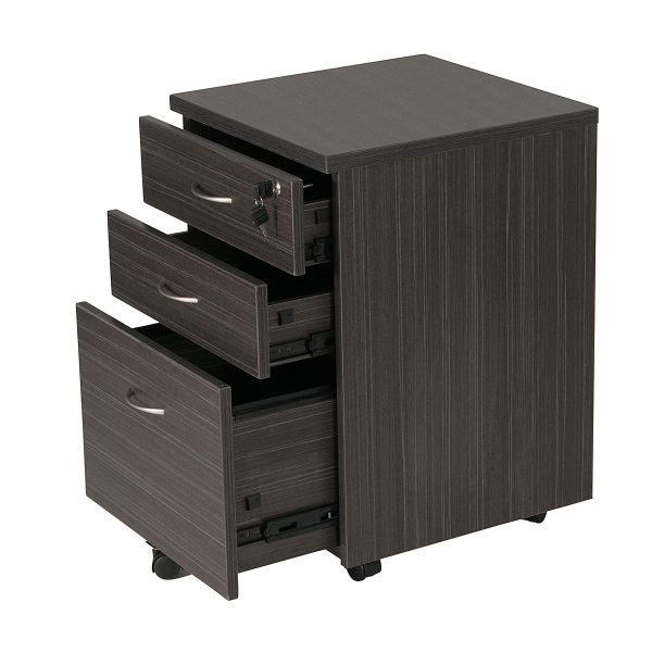 Extended Express Mobile Desk pedestal 2 draw + 1 File