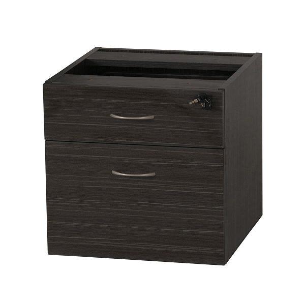 Extended Express Fixed Desk Pedestal 1 Drawer + 1 File
