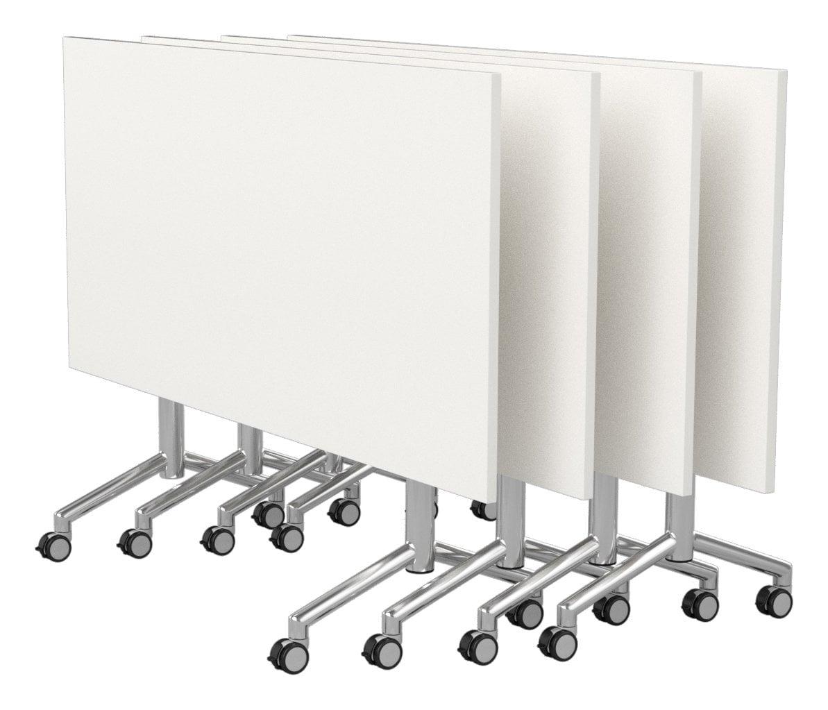 velocity-flip-top-table-chrome-frame-white-worktops - Office Plus ...