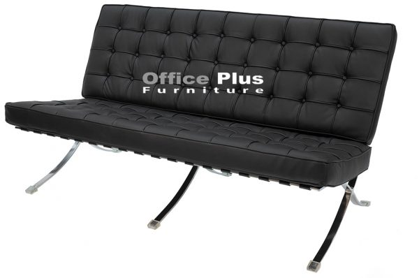 black Barcelona lounge chair