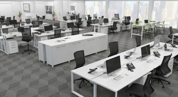 commercial loop leg workstations
