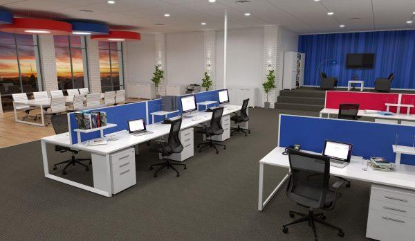 commercial loop leg desks
