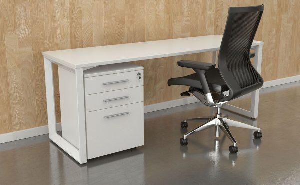 commercial loop leg desk