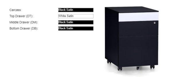 black mobile pedestals
