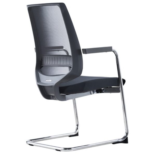 chrome frame viva visitor chair