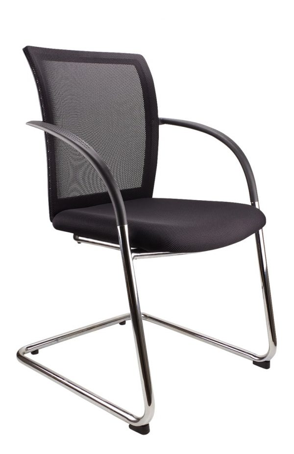 black space visitor chair