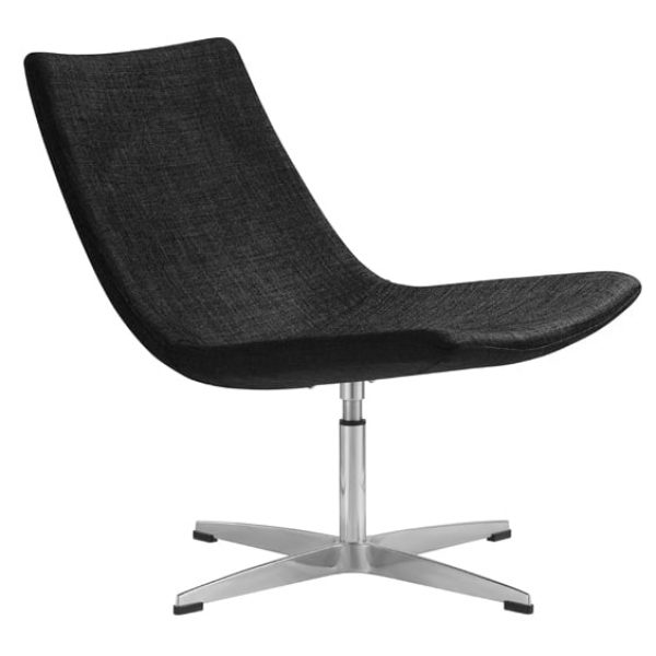 black eclipse visitor chair