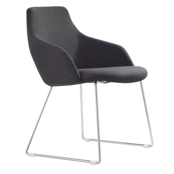 black argo visitor chair