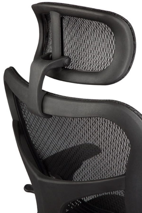 Height and angle adjustable mesh head rest - Atar Chair