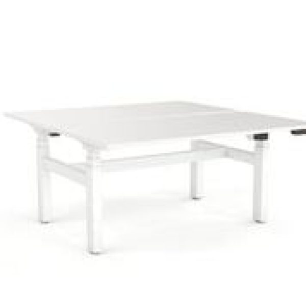 Double Sided White Electric Desk