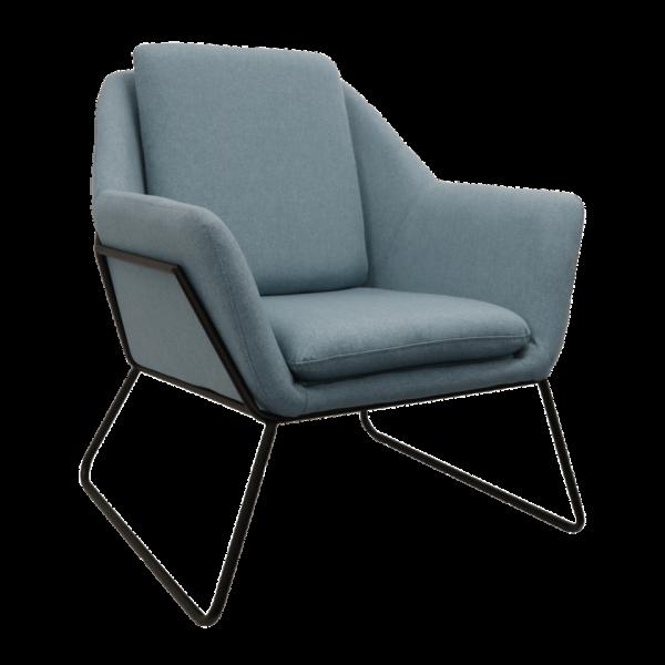 Cardinia Single Arm chair blue Ash Fabric