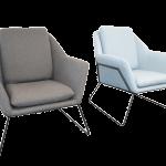 Cardinia Single Arm chair Blue & Charcoal Ash Fabric