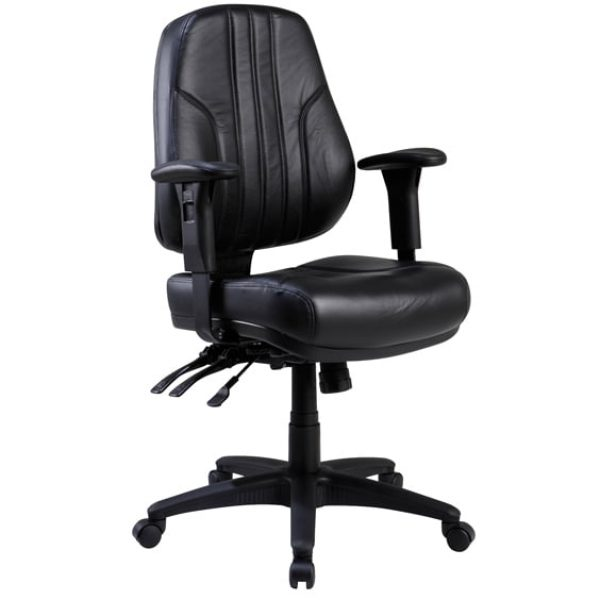 Black Leather Rove Office Chair