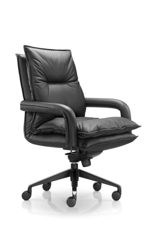 Blisso Black leather Chair