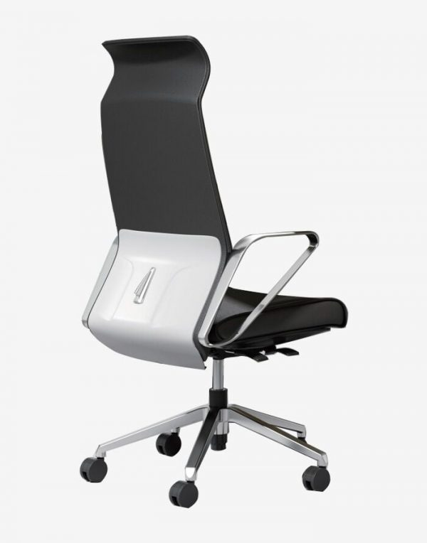 Dustino Black & White Chair