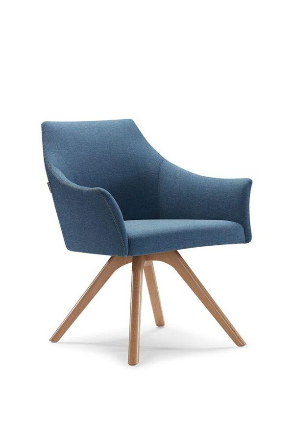 Tulipo Blue Sofa Chair