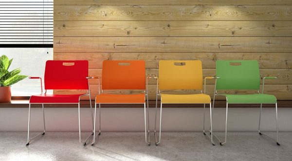 Chrom Finish Lumonia Office Chairs