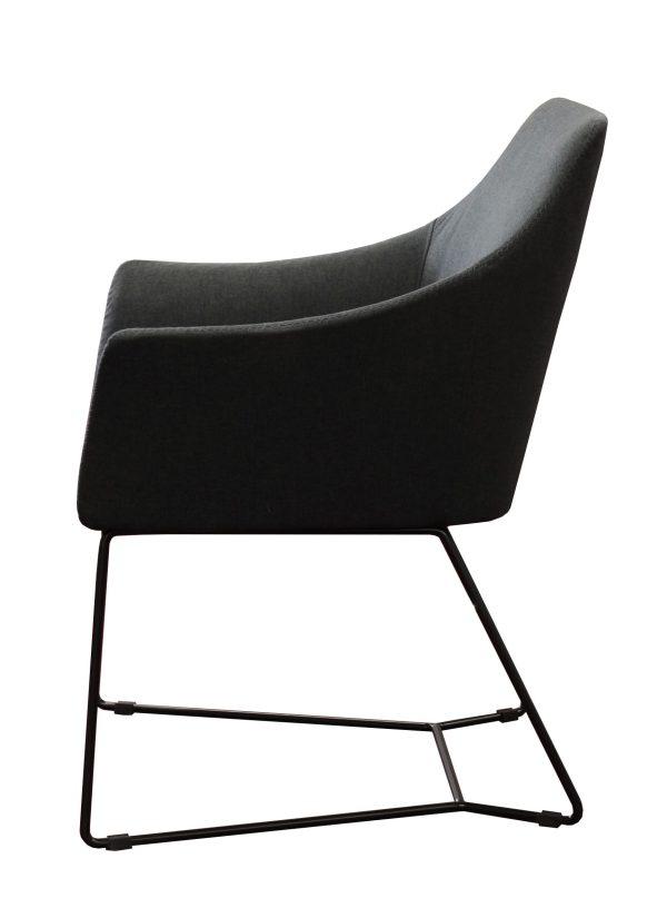 Tulipo Charcoal Sofa Chair